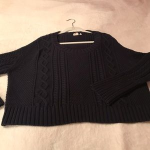 Somedays Lovin Navy Cable knit Sweater